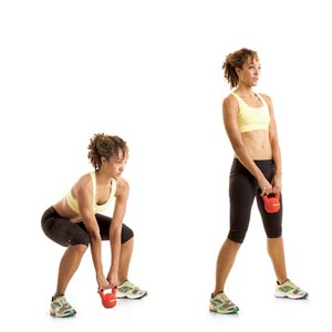Kettle bell deadlift