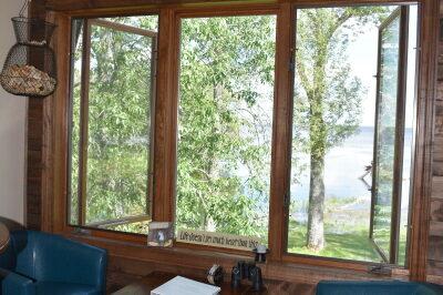 Lounge by window at FishInn