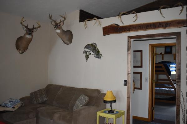 Living room wall at FishInn
