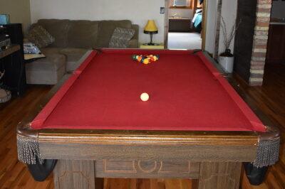 Pool table at FishInn