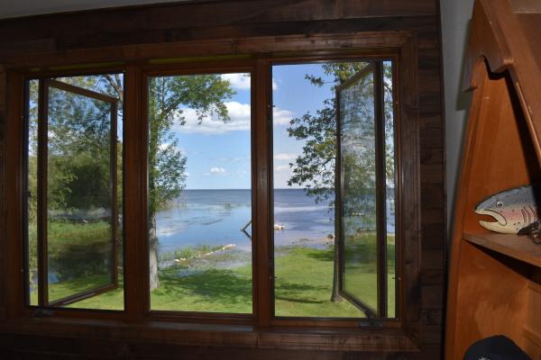 Window view at FishInn