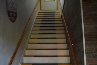 Stairs inside the FishInn