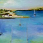 """Boat Mast #10 - 18""""x24"""""""