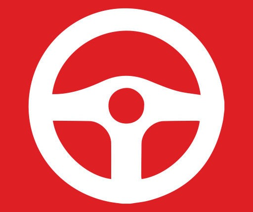 Red Steering Wheel Icon