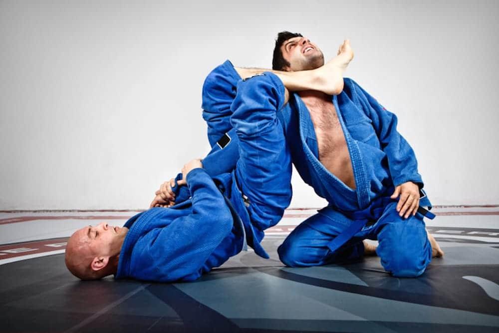 Judo fighter poses in Jiu-Jitsu