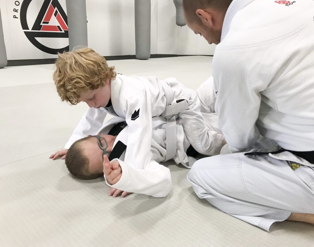 2 kids practicing brazilian_jiu-jitsu in prodigy martial arts