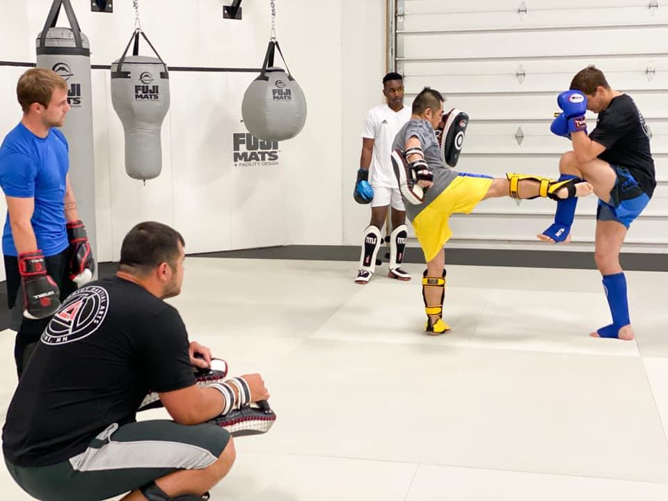 Muay Thai Kickboxing class at Prodigy Martial Arts near Andover MN