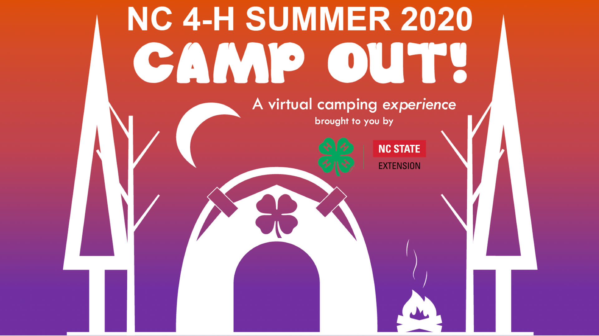 The NC 4-H Summer CAMP OUT! FREE on June 22 – 26, 2020