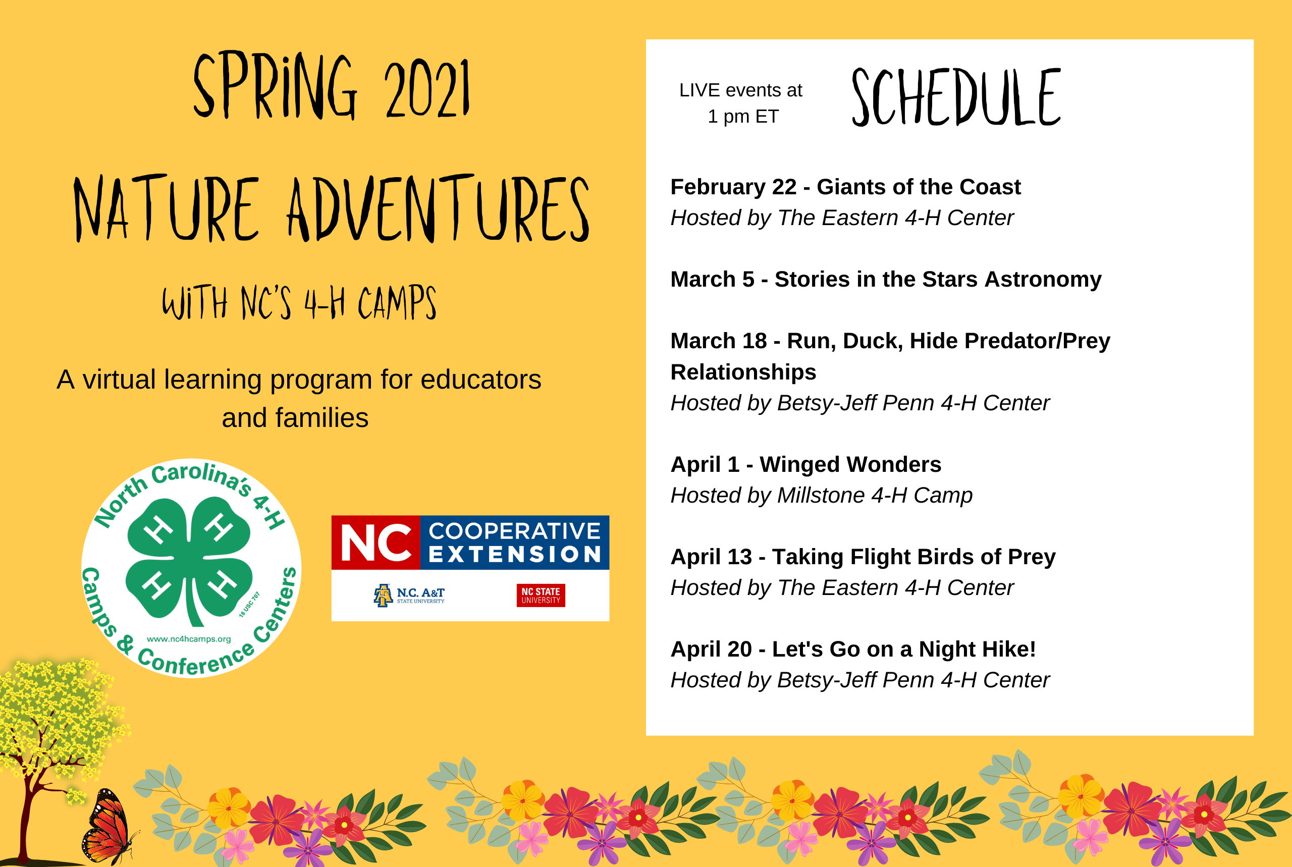 Spring 2021 Nature Adventures Schedule