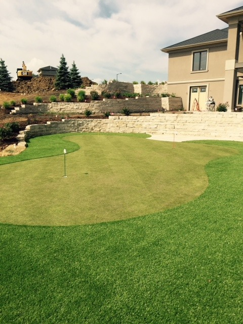 backyard synthetic golf green