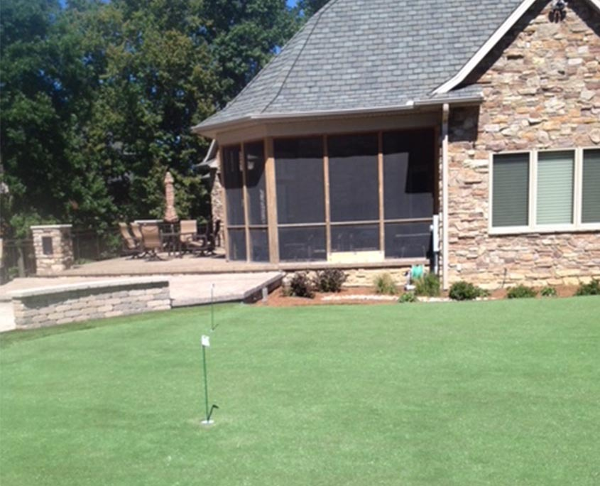 Artificial Putting Green Installation