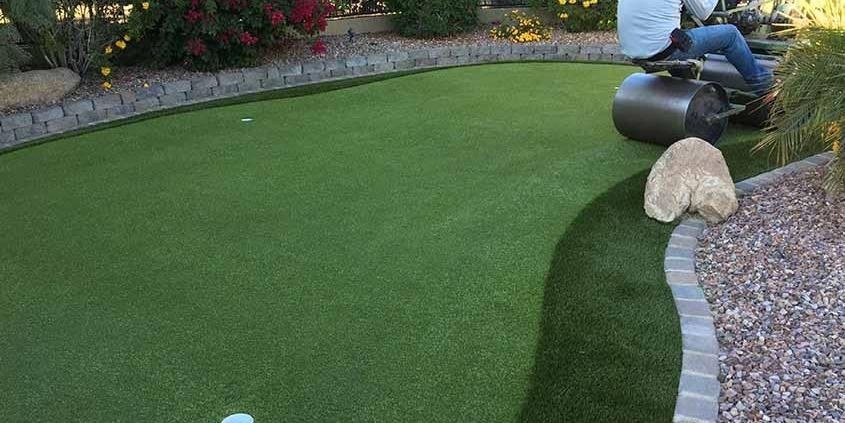Artificial Putting Green Installation