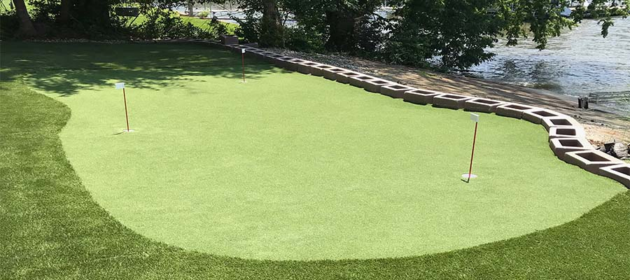 Artificial Putting Green Installation Wichita
