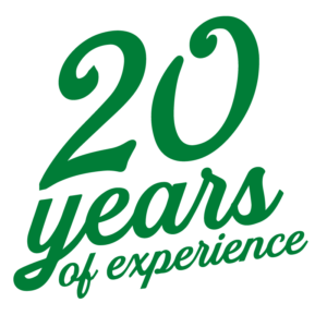 20 Years of Experience Logo
