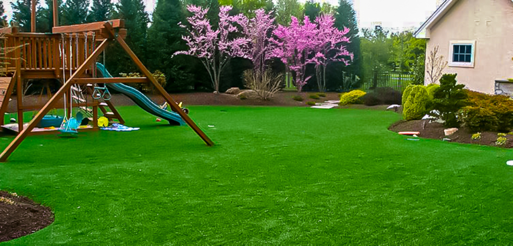 Artificial Turf in Backyard Installed by American Greens