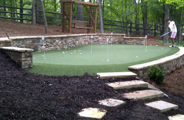 Artificial Golf Green Installation