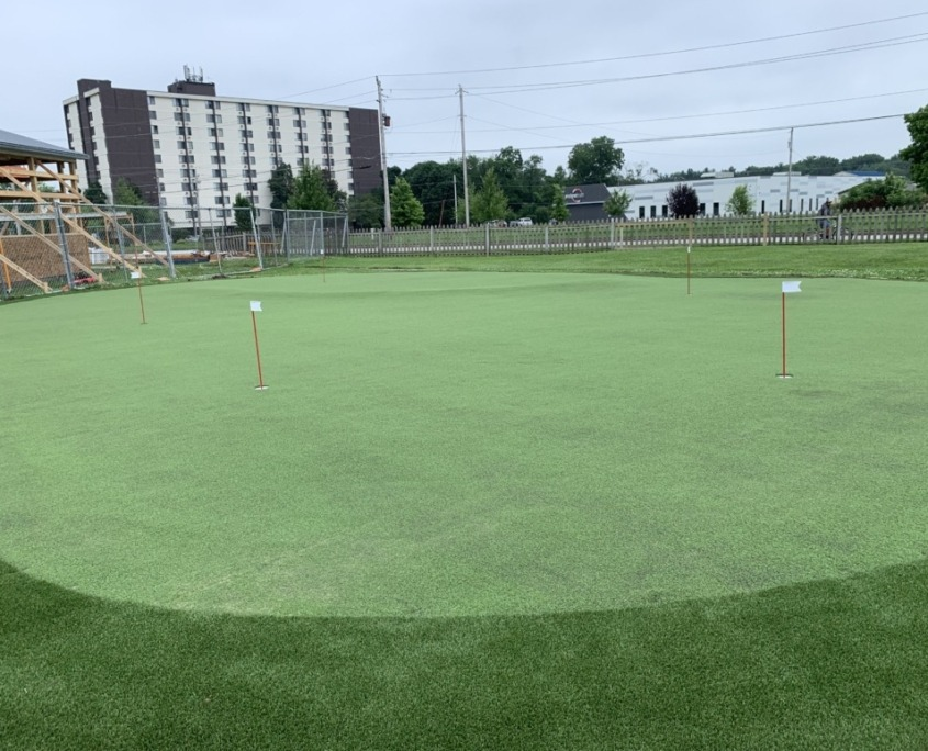 Artificial Putting Green Installation in Indianapolis, IN