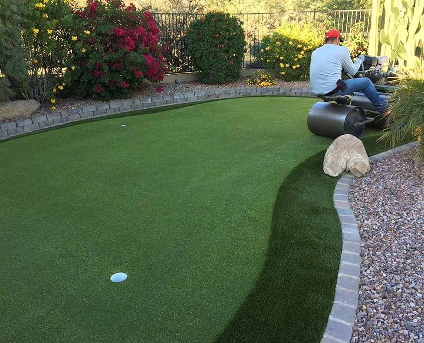 Artificial Putting Green Installation in Milwaukee, WI