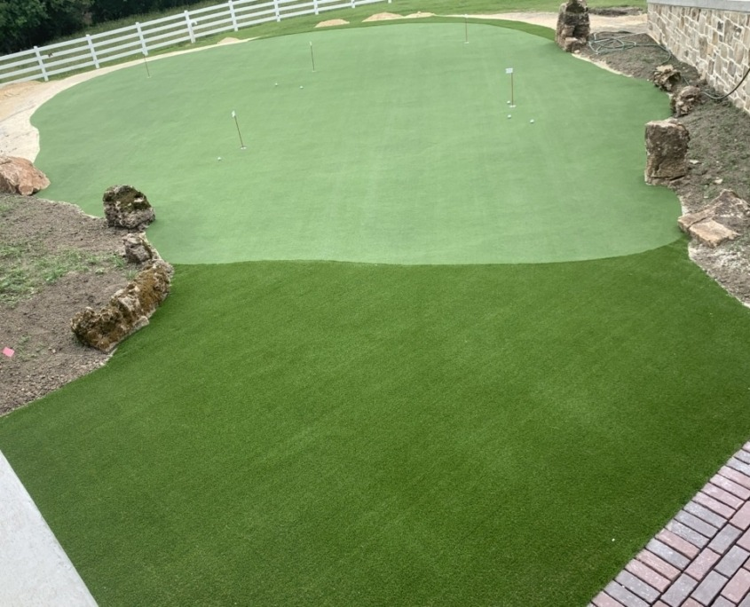 Artificial Putting Green Installation in Naperville, IL