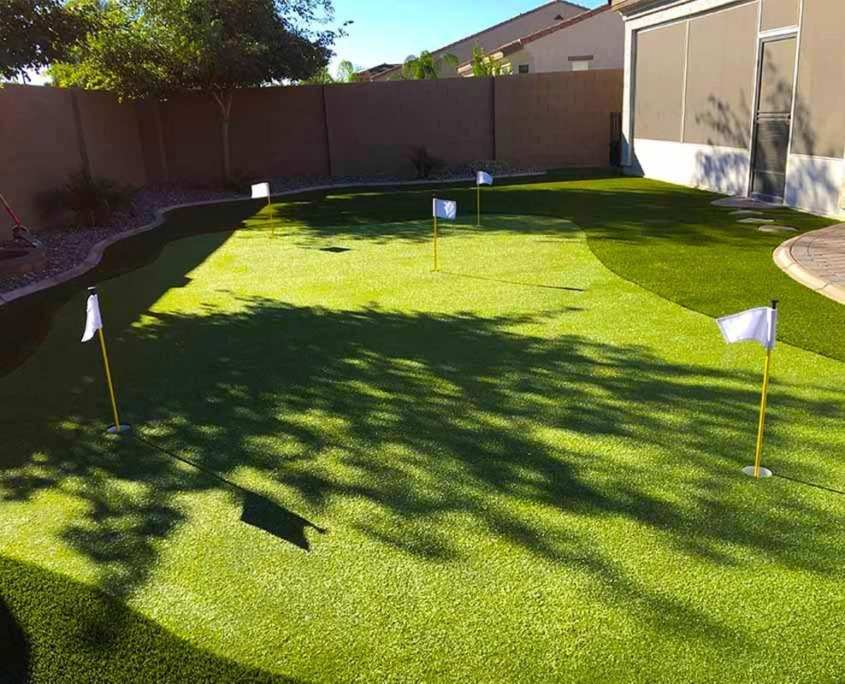 Artificial Putting Green Installation in Noblesville, IN