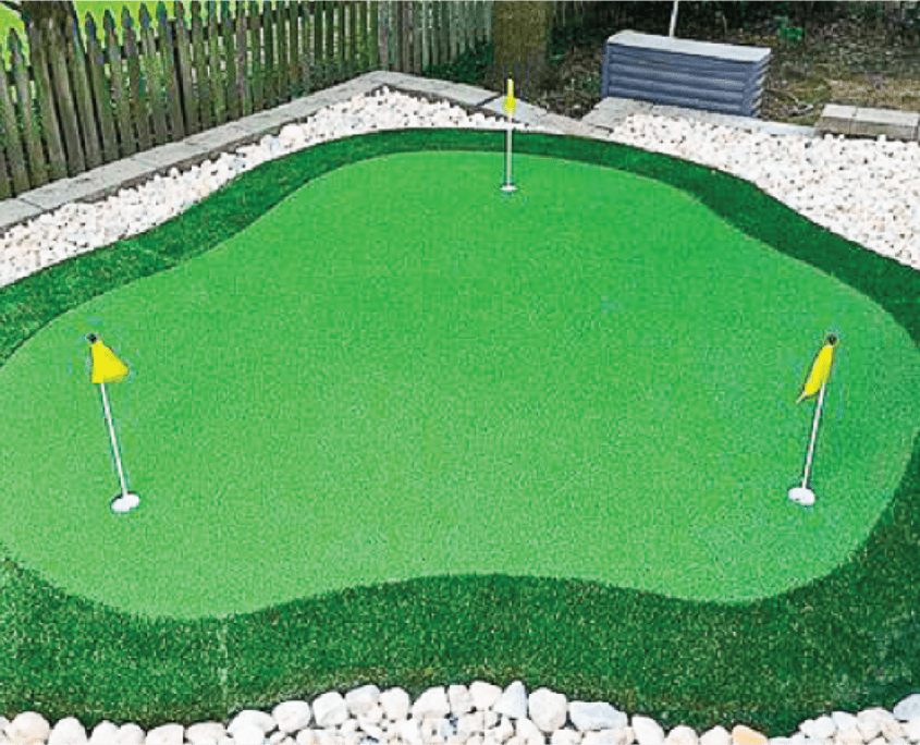 Artificial Putting Green Installation in Norman