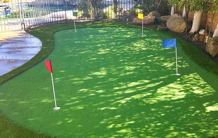 Artificial Putting Green Installation in San Antonio