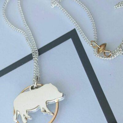 mini pig necklace