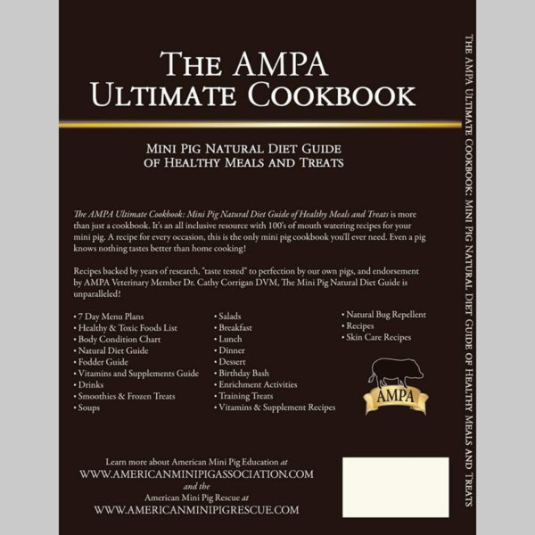 ampa cookbook, mini pig cookbook, mini pig treats