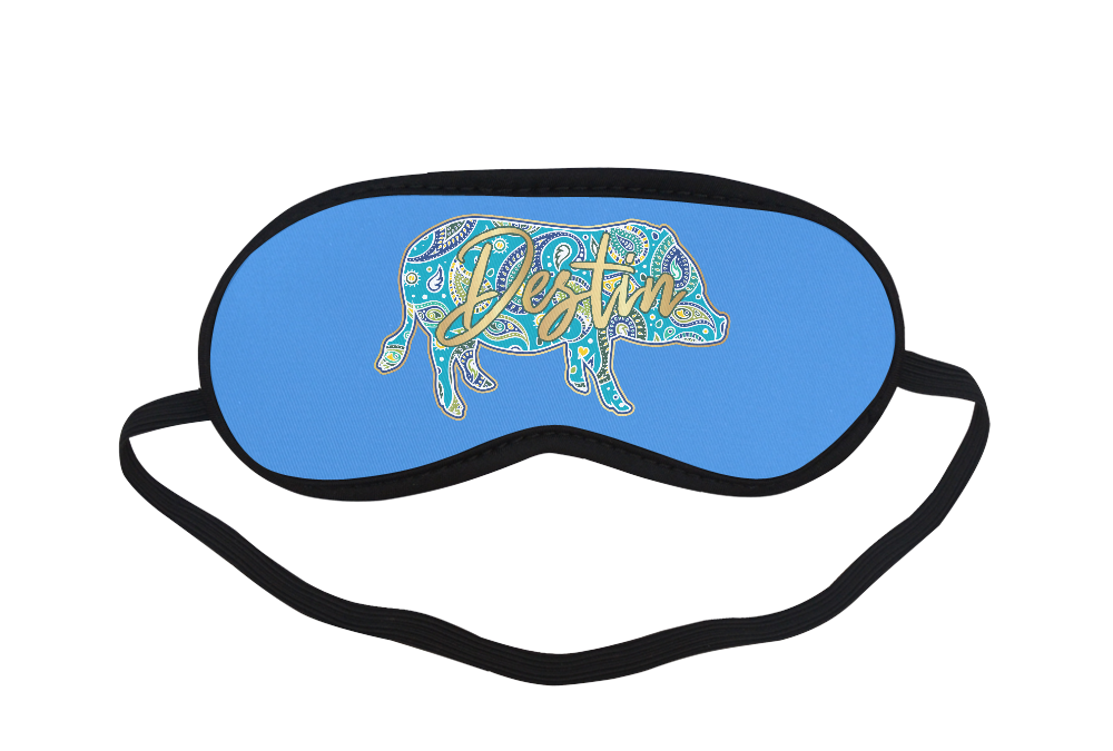 Full-Color-Destin Eye Mask Blue Sleeping Mask