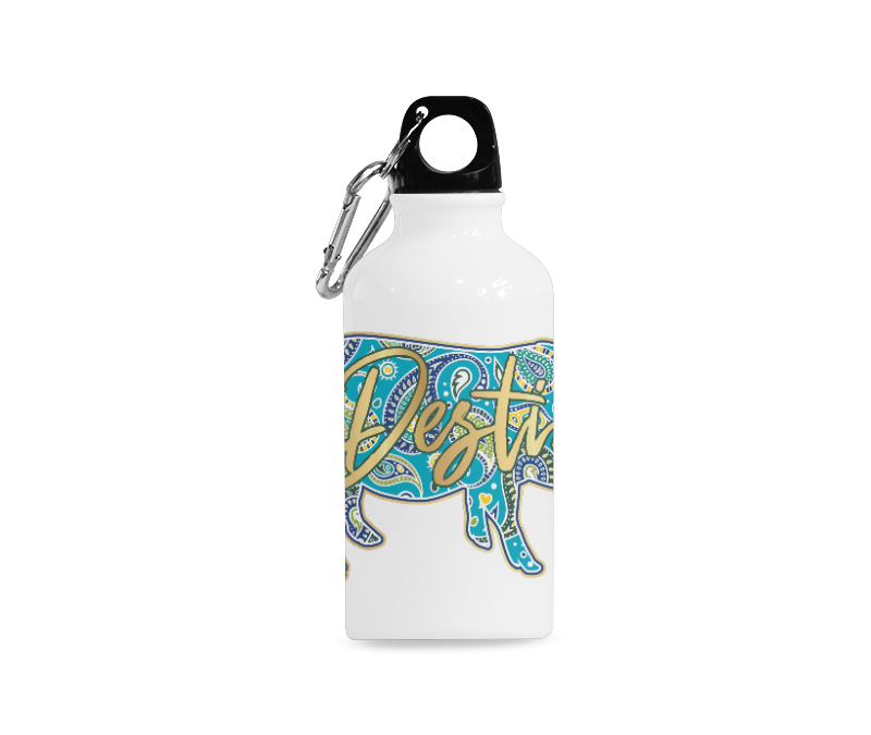 Full-Color-Destin Water Bottle Sports Bottle (13.5 Oz)