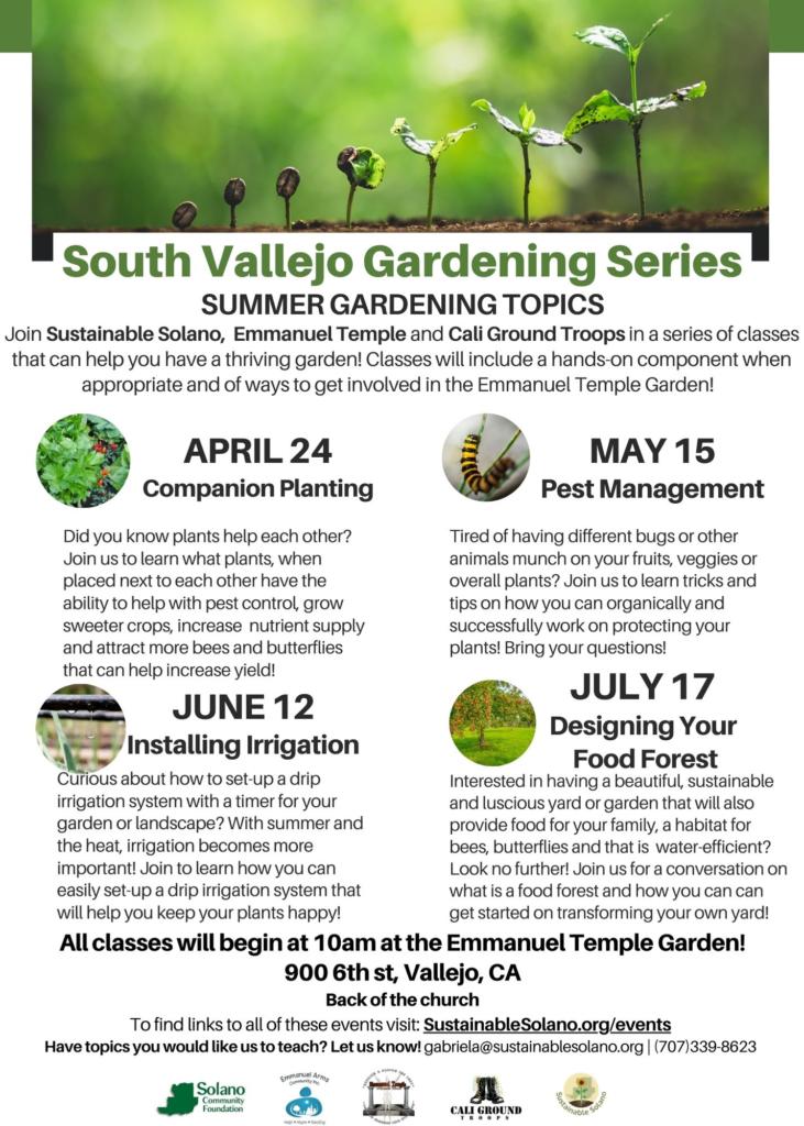 Vallejo: Designing Your Food Forest @ Emmanuel Temple Neighborhood Garden