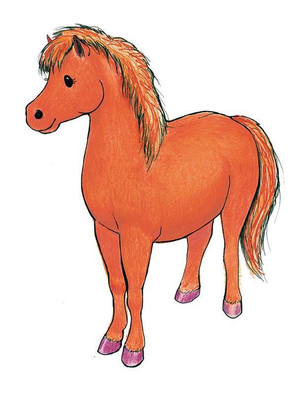 """Thea"" Mascot for My Horses Art"