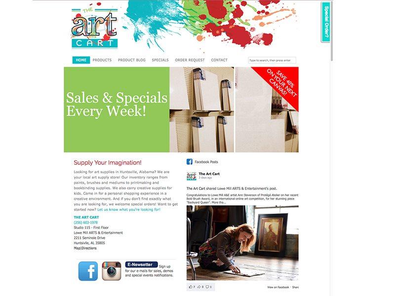 The ARt Cart Website