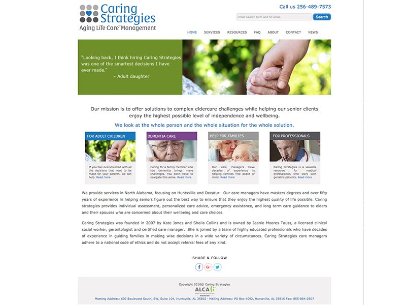 Caring Strategies Website