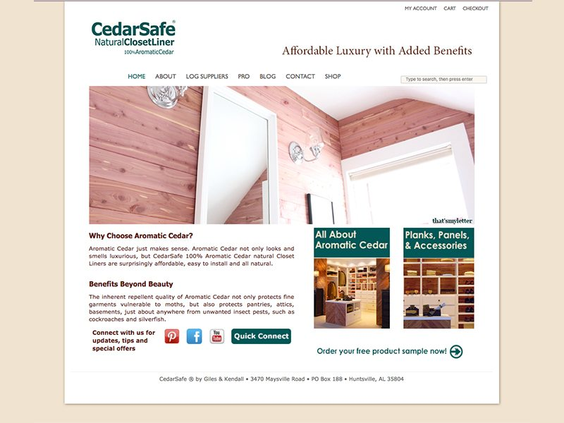 Cedar Safe Website