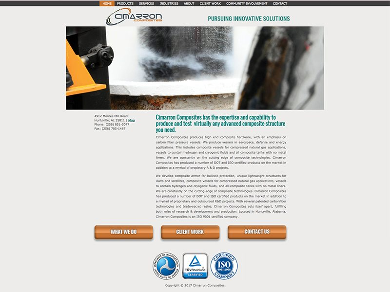 Cimarron Composites Website