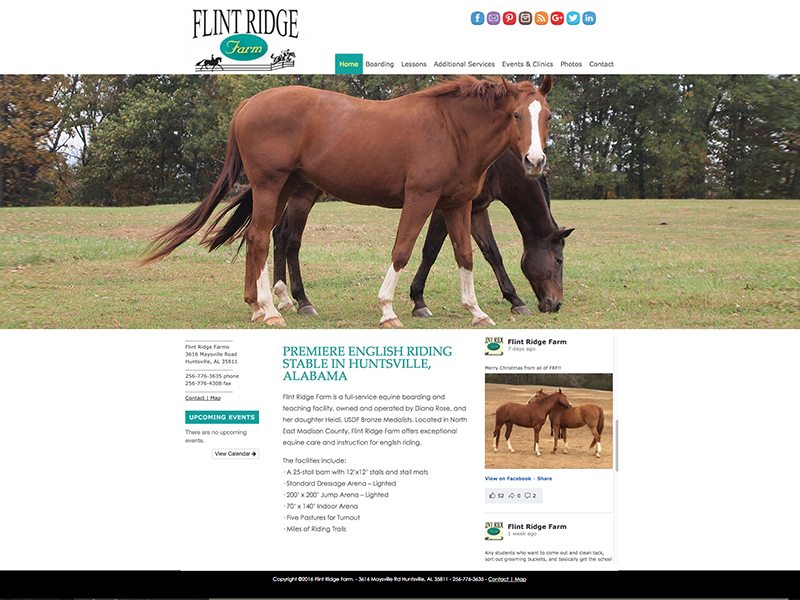 Flint Ridge Farm Website
