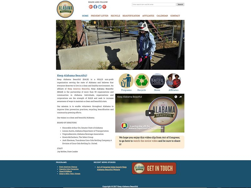 Keep Alabama Beautiful Website