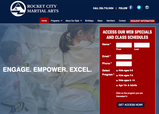 Rocket City Martial Arts Website
