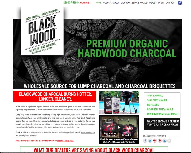 Black Wood Charcoal Website