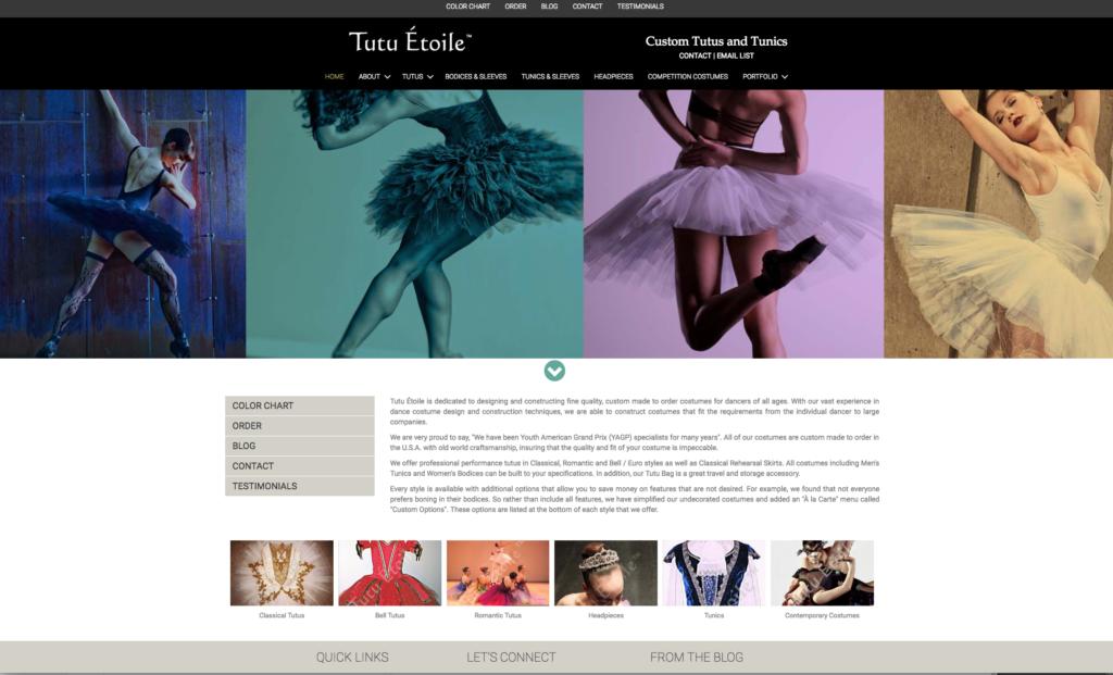 Tutu Etoile Website