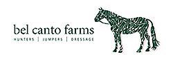 Bel Canto Farm logo green horse