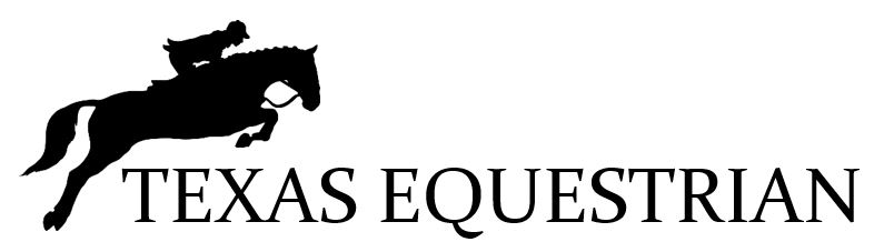 Texas equestrian logo horse jumping