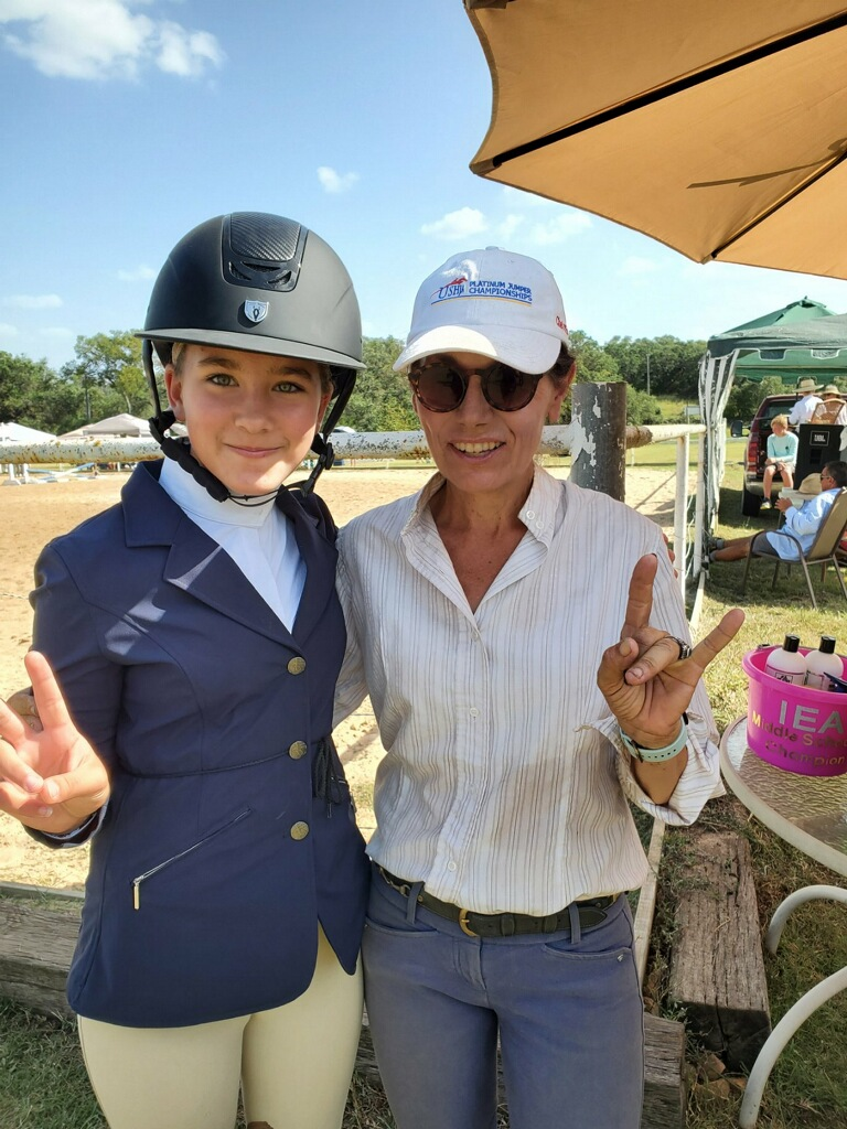 Suzanne Warmack bel canto farms with horse riding student