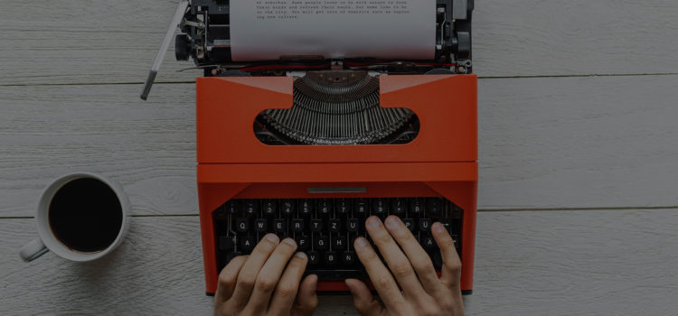 Typewriter mastering your past