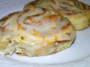 Homemade Orange Cinnamon Rolls