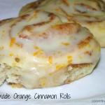 Homemade Orange Cinnamon Rolls