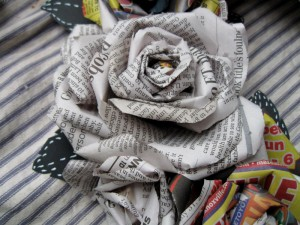 Newspaper Rose