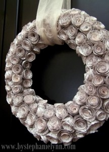 Newspaper Wreath