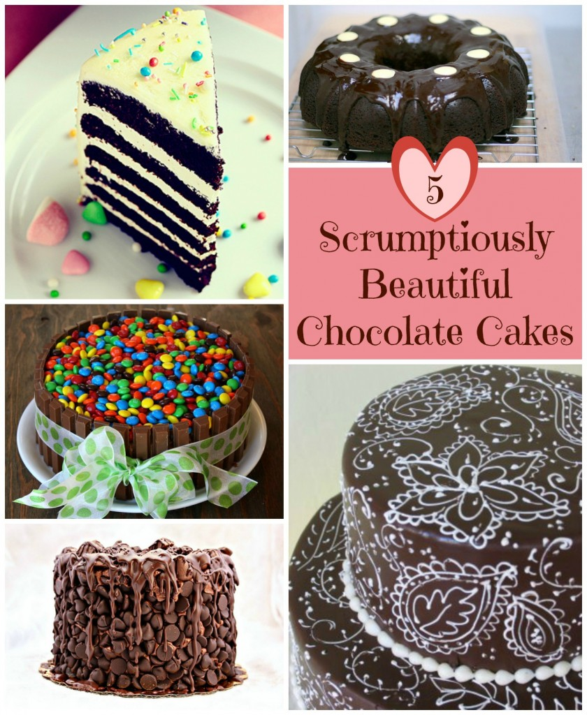 5 Scrumptiously Beautiful Chocolate Cake Design Ideas